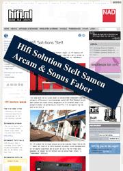 Hifi Solutions Stelt Samen Arcam en Sonus Faber